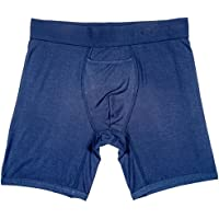 """Terramar Men's 6"""" SilkSkins Boxer Briefs with Fly (Available in 1-Pack 2-Pack)"""
