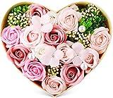 フラワーソープ バラ型 花 ハート フラワーギフト お祝い ハードフラワー形状 薔薇 プレゼント Blossom