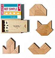 The Small T Tangram Brain Teasers Puzzle for Adults -Teens - Kids 7+. Wooden Brain Teasers Puzzles - Level 1 -