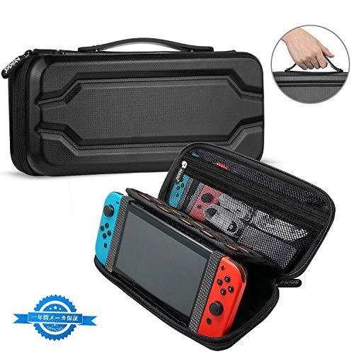 【Nintendo Switch対応】Abida Nintendo Switch ケース 任天堂スイッチケース 保護カバー スリム ハードポーチ スタンド機能付き スイッチケース キャリング 持ち運び便利 大容量 10枚カード ケーブル イヤホン 小物収納