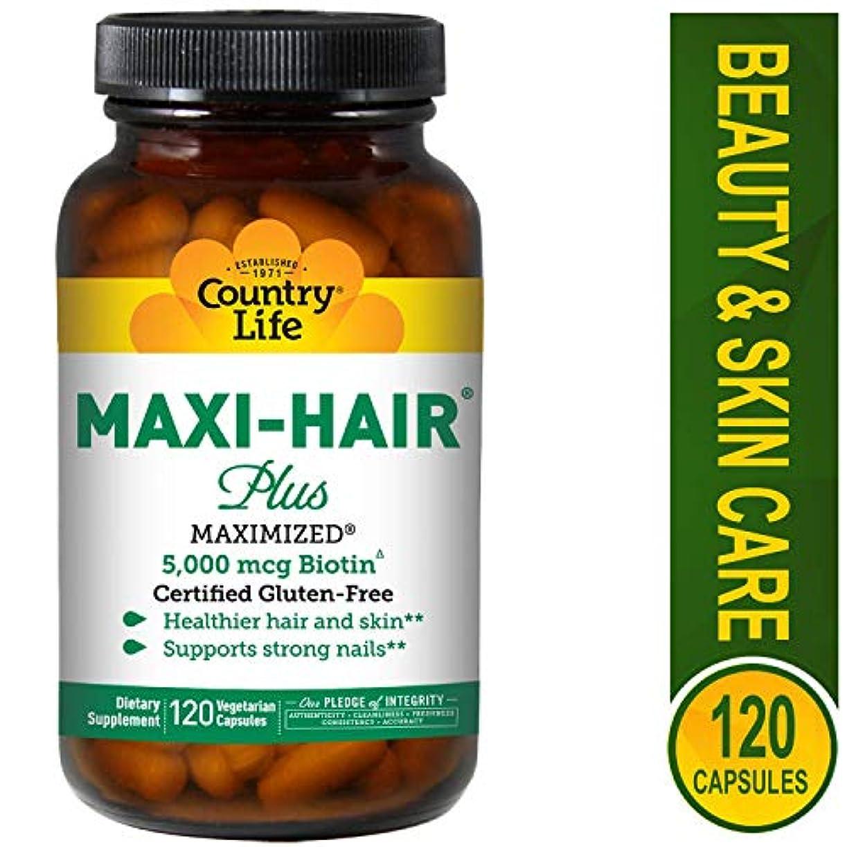 接辞六分儀ゴミ箱を空にする海外直送品 Country Life Maxi Hair Plus Biotin, 120 VEG CAPS