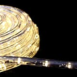 【シャンパン】LEDイルミネーション ロープライト チューブライト 50m 防水仕様