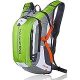 サイクリングバックパック サイクルバッグ リュックサック 登山用 かばん 超軽量 防水 自転車 旅行用 バックパック アウトドアバッグ 大容量 リュック ヘルメット収納ネット付き (グリーン)