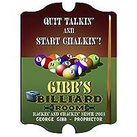 Personalizedヴィンテージパブサイン–Billiards