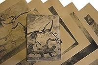 紙製ブックカバー ラスコー洞窟の壁画 (クラフト紙)