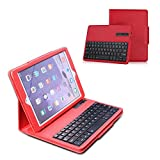 Ewin® iPad Air/iPad Air2 汎用  Bluetooth3.0搭載 分離式キーボード保護ケース(レッド)