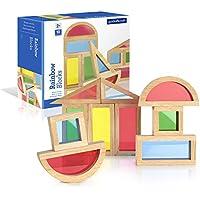 Guidecraft Rainbow Blocks Set (10 Piece) by Guidecraft