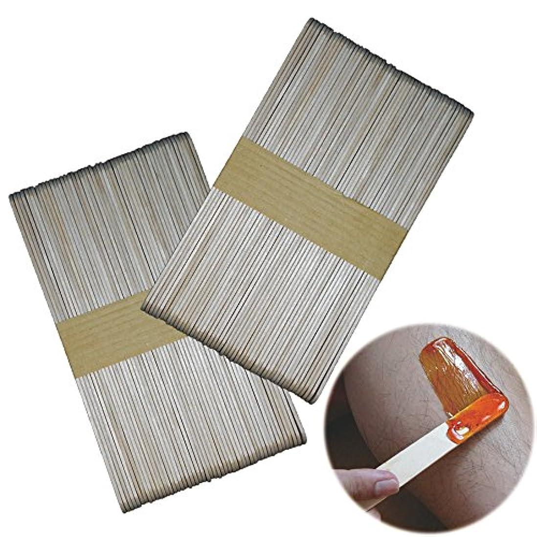 【白樺材】ウッドスパチュラ 100本 / 木製 スパチュラ 150mm(長さ)x16.5mm(幅)/ ハダカタイプ