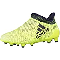 adidas Junior Boys X 17+ Purespeed FG Football Soccer Boots in Yellow
