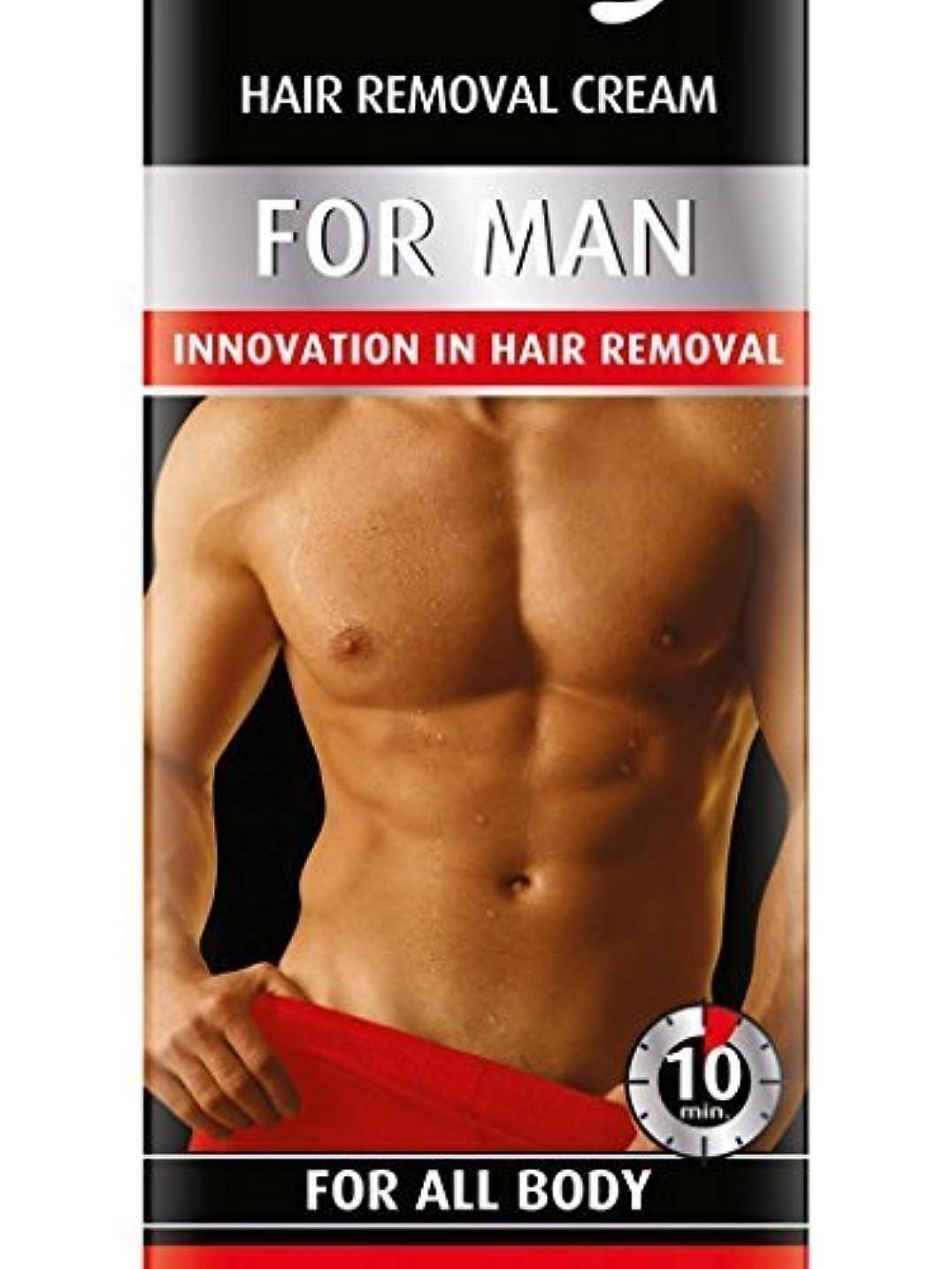回転させる絶滅句読点Hair Removal Cream For Men For All Body 100ml by Bielenda [並行輸入品]