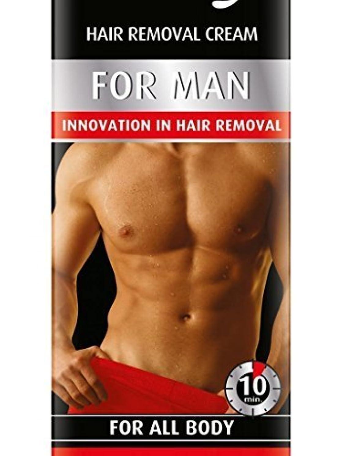 チャート鼓舞するチキンHair Removal Cream For Men For All Body 100ml by Bielenda [並行輸入品]