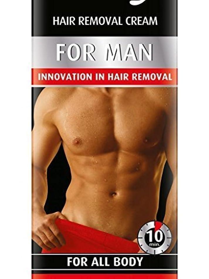 飛ぶ以内に明快Hair Removal Cream For Men For All Body 100ml by Bielenda [並行輸入品]