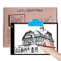 Sunny A4 超薄型 5mm LEDライトパッド LEDライトボックス ポータブルトレースLEDライト コピーボード USB電源プラグ付き アニメーション、スケッチ、ペイント、アーティスト用
