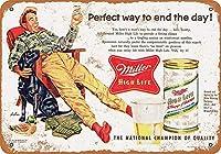 なまけ者雑貨屋 Miller High Life Hunting メタルプレート レトロ アメリカン ブリキ 看板 バー ビール おしゃれ インテリア