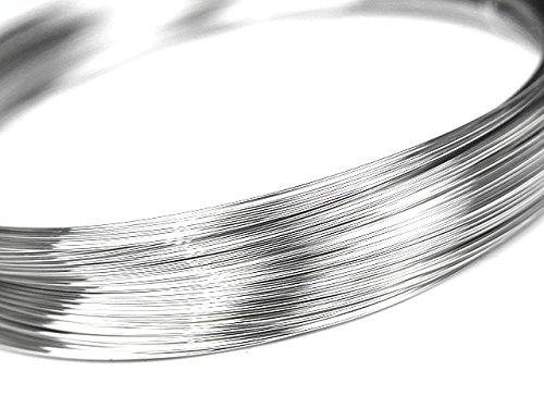 SILVER925 ワイヤー[ハーフハード] 28GA(0.32mm)【2m販売】