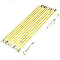 ファイバーグラスケーブルプラー ランニングワイヤーケーブルセット 電気プルプッシュロッド フィッシュテープキット