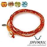 SHIMAIL(シュメール) カラーコットンマルチコード ブレスレット ネックレス (オレンジ)