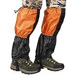 Terra Hiker ゲイター 防水 防寒 雪よけカバー ロングスパッツ(orange&black)