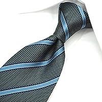 ネクタイ ブランド レノマ ネクタイ (8cm幅) RE51 グレー/ブルー [並行輸入品]