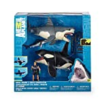 ニューバランス テニス 【並行輸入品】Great White Shark & Killer Whale Playset プレイセット - Animal Planet アニマルプラネット