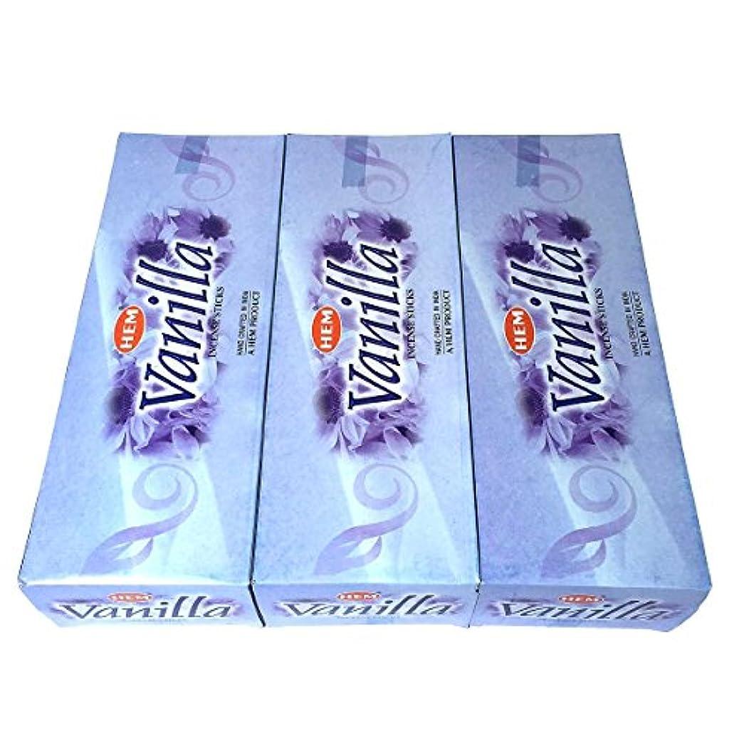 導体オーラル事故バニラ香 スティック 3BOX(18箱)/HEM VANILLA / インド香 お香 [並行輸入品]