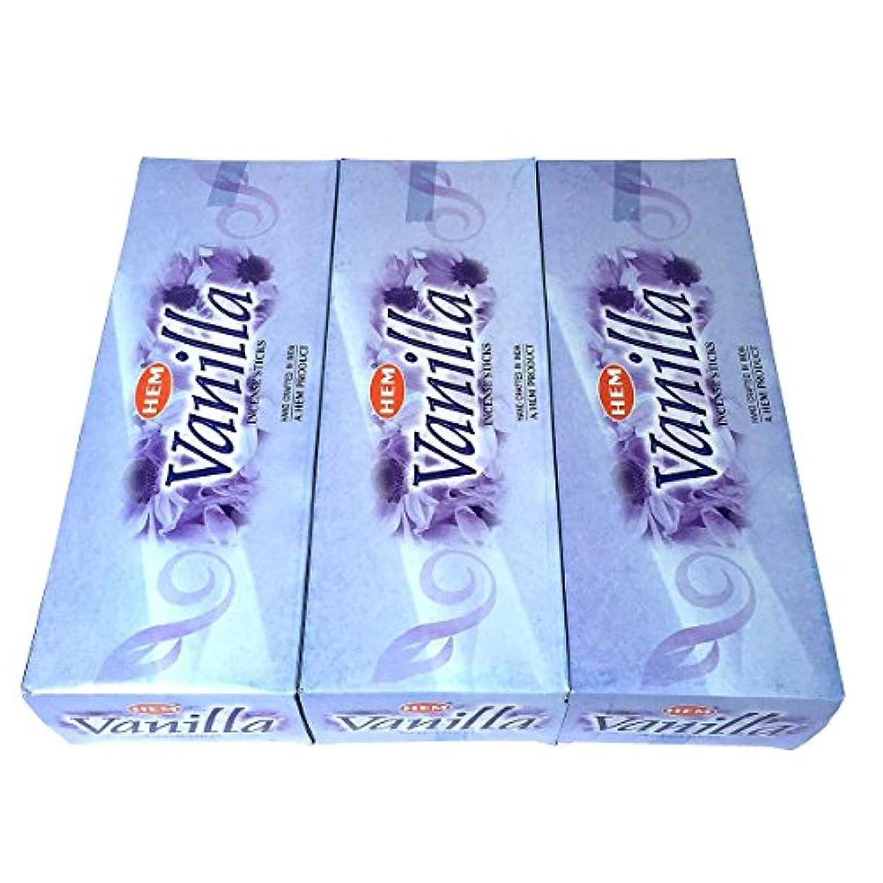 全部敬礼わかるバニラ香 スティック 3BOX(18箱)/HEM VANILLA / インド香 お香 [並行輸入品]