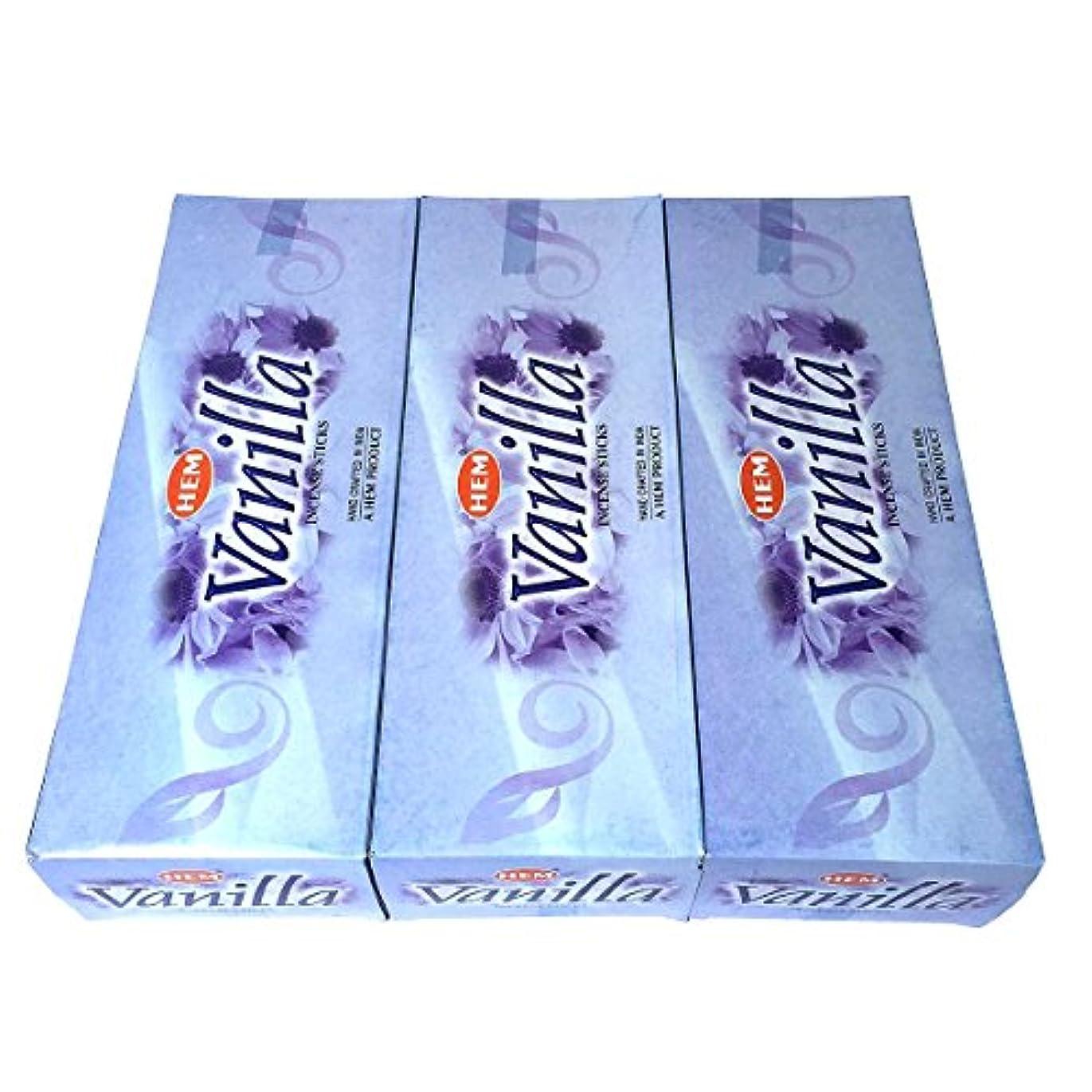 出血委任する水分バニラ香 スティック 3BOX(18箱)/HEM VANILLA / インド香 お香 [並行輸入品]