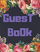 Guest Book floral: color Floral Cover, Guest book For Wedding, for baby shower,for graduation,for birthday party,for house warming,for retirement,with funny and cute floral  print on cover