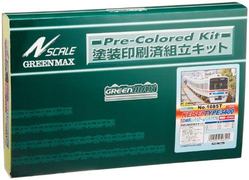 Nゲージ 1085T 京成3400形シングルアームパンタグラフ4輛トータルセット (塗装済車両キット)