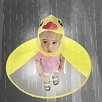 Mangjiu 雨具 レインコート 子供 子供の雨具UFOかわいい小さな黄色いアヒルのレインコート 幼児 通学レインコート ポンチョ 雨具 (黄, L)