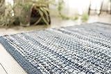 洗える 屋内 室内 平織り デニム 玄関マット 「 デニム 」 約 70x120 cm ブルー