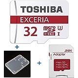 東芝 Toshiba 超高速U3 4K対応 microSDHC 32GB + SD アダプター + 保管用クリアケース [バルク品 ]
