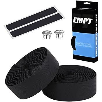 EMPT(イーエムピーティー) EVA ロード用 バーテープ ES-JHT020 クッション製に優れたEVA製バーテープ ロード ピスト ドロップハンドルバーテープ ※エンドキャップ、エンドテープ付属 (WAVE柄黒(ブラック))