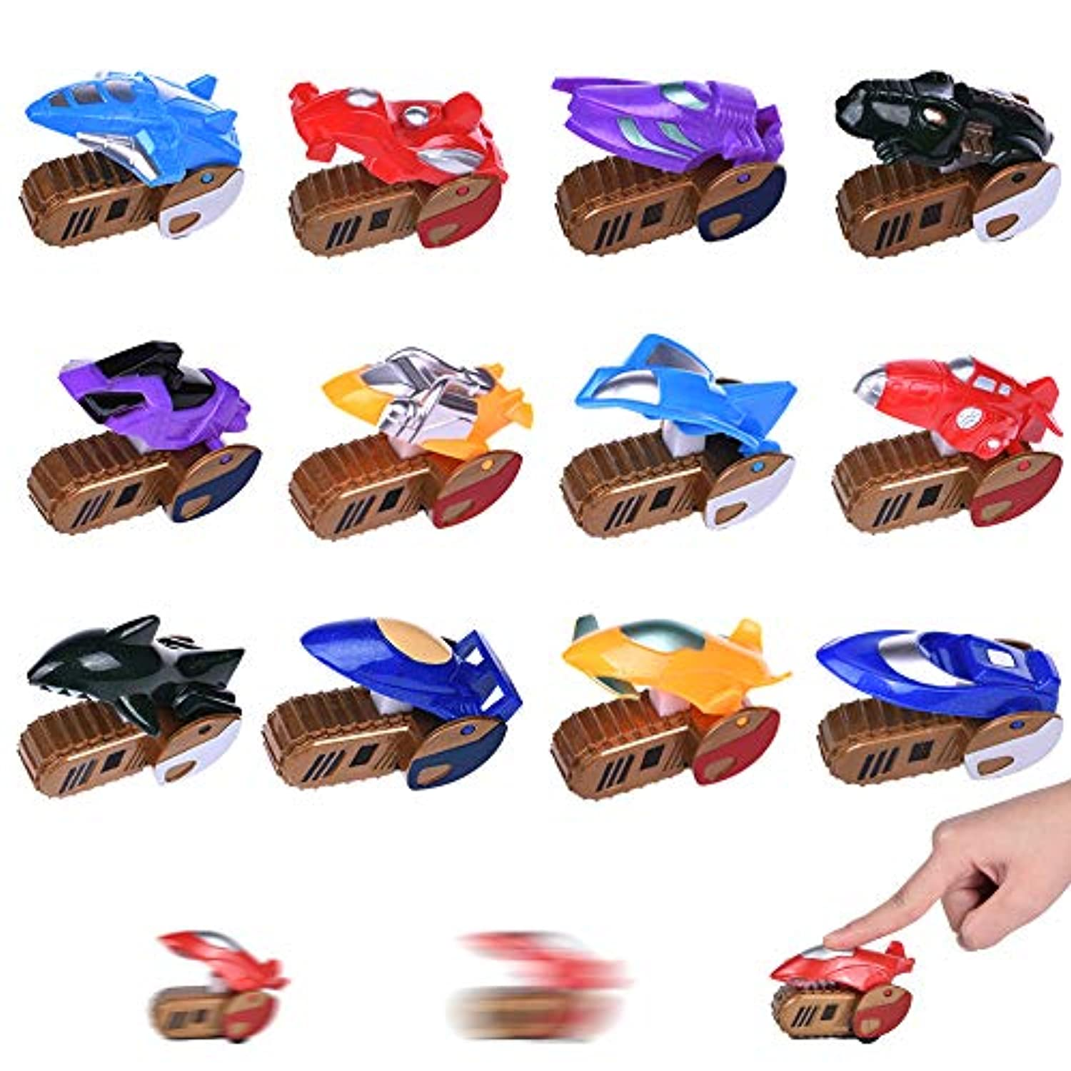 Mini Car Toys for Kids、12パックAssorted車Racing車、パーティーFavor Pinata Fillers Stocking Stuffers、Press and Go car toy playセット