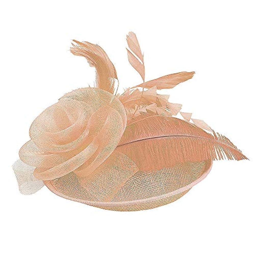 国直面する山積みのMerssavo 英国スタイルのブライダル帽子、女性のエレガントな花の羽のベールの帽子ヴィンテージリネンティアラヘアアクセサリードレス帽子、9#