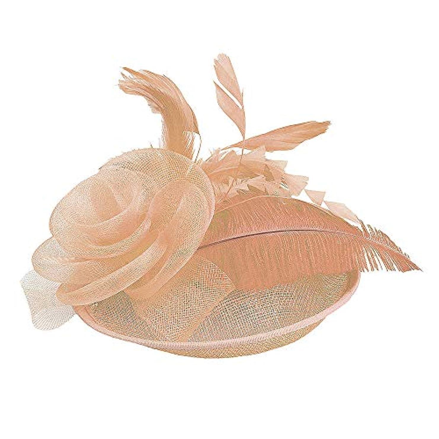 コットンあそこ統合Merssavo 英国スタイルのブライダル帽子、女性のエレガントな花の羽のベールの帽子ヴィンテージリネンティアラヘアアクセサリードレス帽子、9#