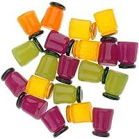 Fenteer 20個  ドールハウス 瓶 3D サンプル 1/12  ミニチュア ミニ瓶 人形 装飾 DIYアクセサリー