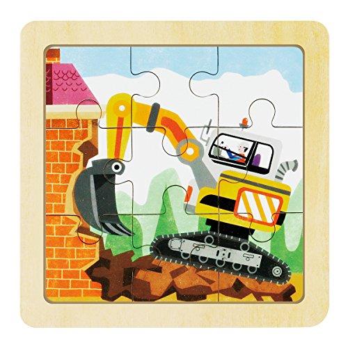 [해외]Robotime 퍼즐 2D 나무 굴착기 9 피스 유아용 교육 픽쳐 장난감/Robotime Jigsaw 2D Wooden Excavator 9pcs Early childhood educational pictures toy