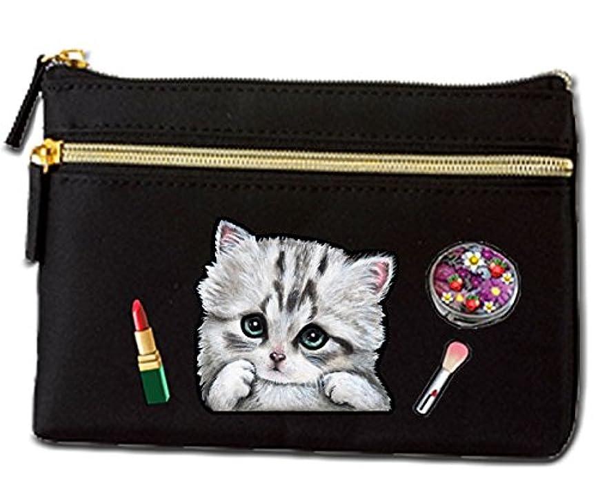有名な旅行者慢性的猫 ポーチ / ネコ3/雑貨/グッズ/オリジナル