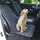 Dog Car Front Seat Cover, Waterproof Pet Car Seat Protector, 600D Heavy Duty Scratch Proof Non-Slip Durable Oxford Fabric for Cars Trucks and SUVs