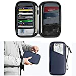 Amaco パスポートケース 財布 スキミング防止 パスポートバッグ トラベルポーチ 海外旅行 貴重品入れ 航空券対応 スマホ収納可 プレゼント 軽量 防水 大容量 薄型 男女兼用 クラッチバッグ カードケース