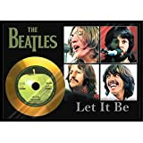 The Beatles - Let It Be gold disc/ビートルズ【レット・イット・ビー】ゴールドディスク 証明書付き [並行輸入品]
