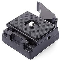 XCSOURCE®ブラックメタルクイックリリースプレートクランプアダプターセットSLR DSLR カメラ 三脚マンフロット200PL-14 QR プレートカメラ三脚ボールヘッド Black Metal Quick Release Plate Clamp Adapter Set DC465