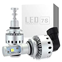 zodoo LEDヘッドライトHB4(9006) 車検対応 ワンタッチ取付 切り替えタイプ CREE製 XHP50 LEDチップ搭載 8000LM 40W 6500K DC12-24V ホワイト 2個セット保証1年 Z7SHB4