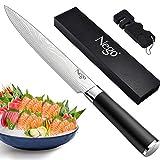 Nego 柳刃包丁 刺身包丁 9.5インチ - 寿司や刺身のカットに最適 魚の充填とスライス - 非常に鋭いドイツ製高炭素ステンレススチール刃 + ギフトボックス