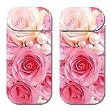 アイコス シール iQOS 専用 スキンシール デコ 裏表 2枚 セット A000503_05 薔薇 バラ フラワー 花 ピンク ローズ かわいい