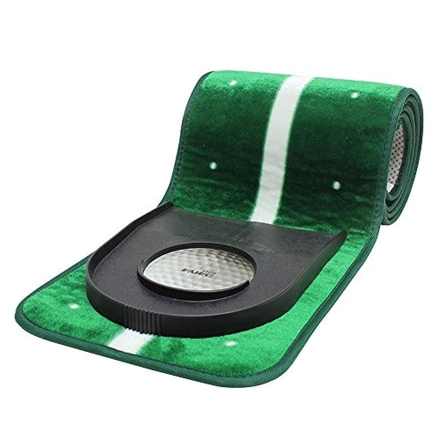 ナビゲーション普通のバイナリgolfamiスリムPutting Mat 2タイプグリーン9.5 / 11.5フィート滑り止めマット+穴カップ