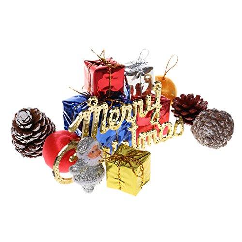 【ノーブランド品】12点セット  混合 クリスマスツリーの飾り クリスマス オーナメントセット 装飾品 ギフトボックス サンタ