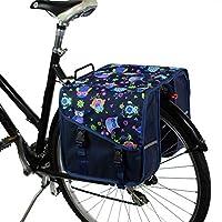 BikyBag Classic S - 自転車用ダブル・パニエ (フクロウ)