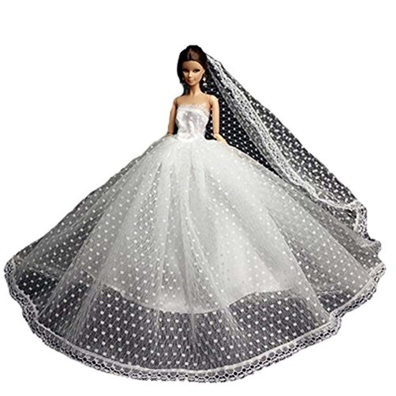 ハンドメイド甘いウェディングドレスドール衣類レースドレス11 '人形